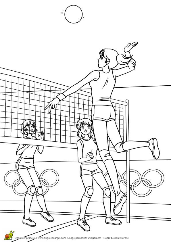 Coloriage et dessins gratuits Volleyball Jeux Olympiques à imprimer