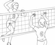Coloriage Volleyball maternelle