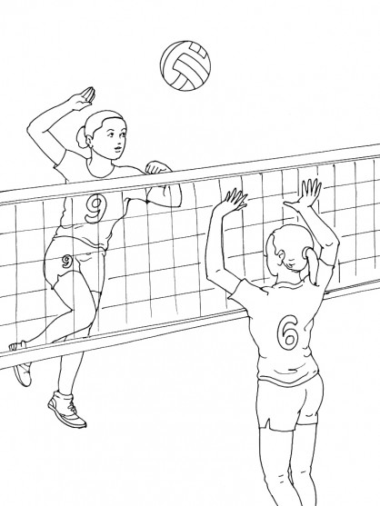 Coloriage et dessins gratuits Volleyball maternelle à imprimer