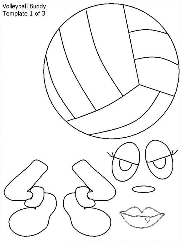 Coloriage et dessins gratuits Volleyball personnalisé à imprimer