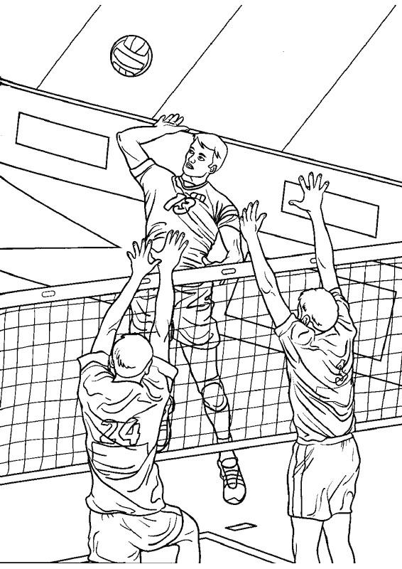 Coloriage et dessins gratuits Volleyball professionnel à imprimer