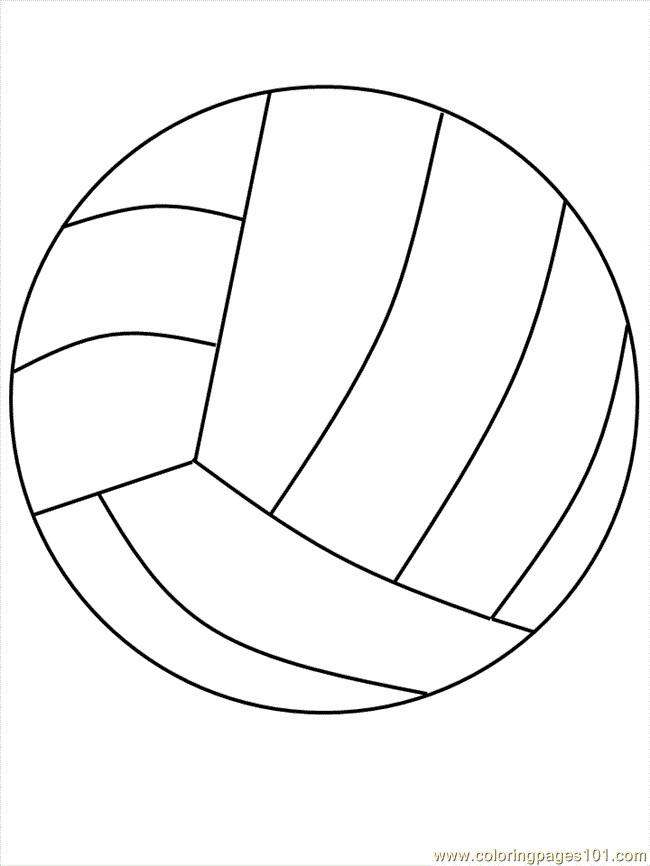 Coloriage et dessins gratuits Volleyball simple à imprimer