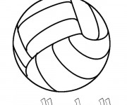 Coloriage Volleyball sport collectif