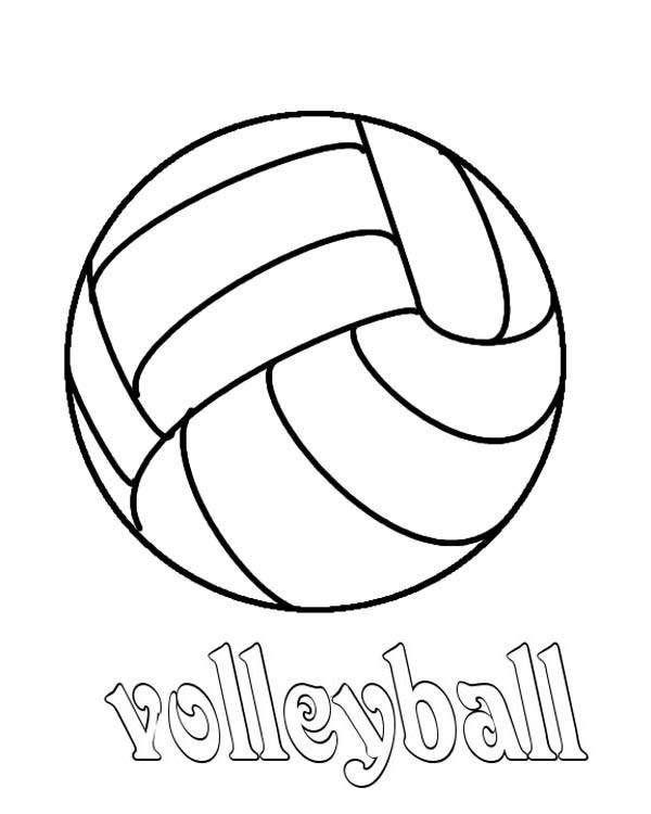 Coloriage et dessins gratuits Volleyball sport collectif à imprimer