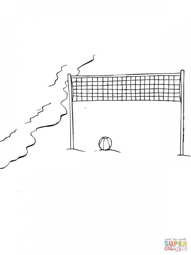 Coloriage et dessins gratuits Volleyball sur la plage à imprimer