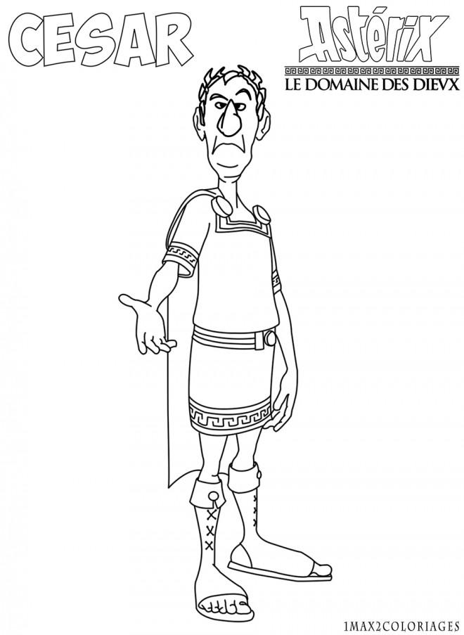 Coloriage Asterix Cesar Dessin Gratuit A Imprimer
