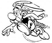 Coloriage et dessins gratuit Astérix en courant à imprimer