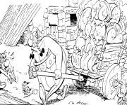 Coloriage et dessins gratuit Astérix et Le puissant Obélix à imprimer
