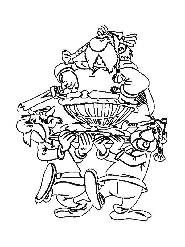 Coloriage et dessins gratuits Astérix et Obélix comique à imprimer