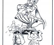 Coloriage Astérix et Obélix drôle