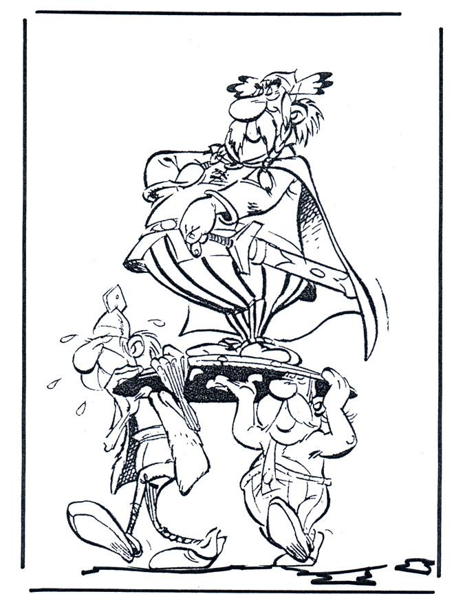 Coloriage et dessins gratuits Astérix et Obélix drôle à imprimer