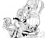 Coloriage Astérix et Obélix et Le Trésor