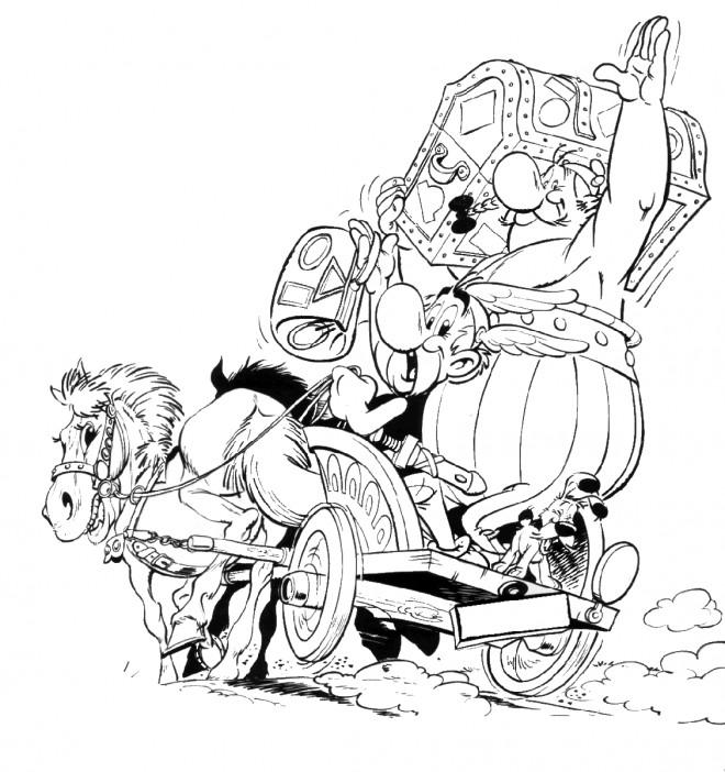 Coloriage et dessins gratuits Astérix et Obélix et Le Trésor à imprimer