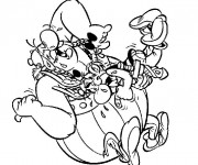 Coloriage Astérix et Obélix rigolos