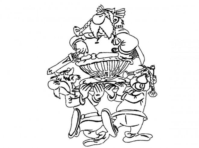 Coloriage et dessins gratuits Astérix magique à imprimer
