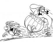 Coloriage Astérix Obélix et Idéfix en courant