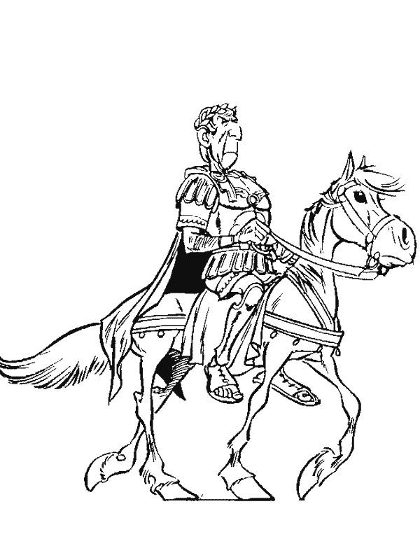 Coloriage et dessins gratuits L'empereur Romain à imprimer