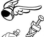 Coloriage et dessins gratuit L'équipement de Astérix à imprimer