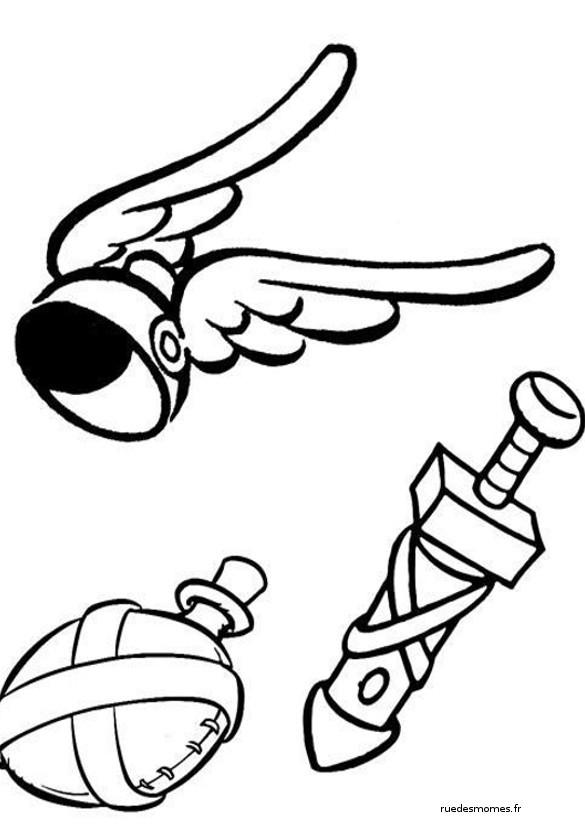 Coloriage et dessins gratuits L'équipement de Astérix à imprimer