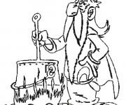 Coloriage et dessins gratuit Panoramix et La Potion magique à imprimer
