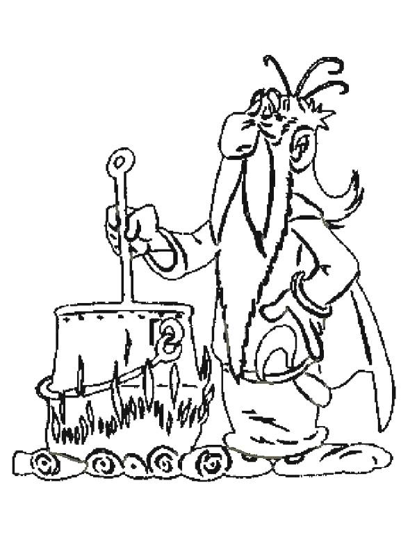 Coloriage et dessins gratuits Panoramix et La Potion magique à imprimer