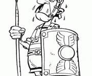 Coloriage et dessins gratuit Romain dans Astérix à imprimer
