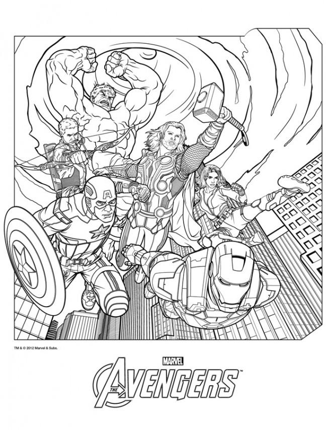 Coloriage Avengers couleur dessin