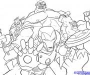 Coloriage et dessins gratuit Avengers en Ligne à imprimer
