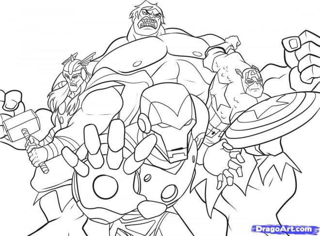 Coloriage En Ligne Marvel.Coloriage Avengers En Ligne Dessin Gratuit A Imprimer