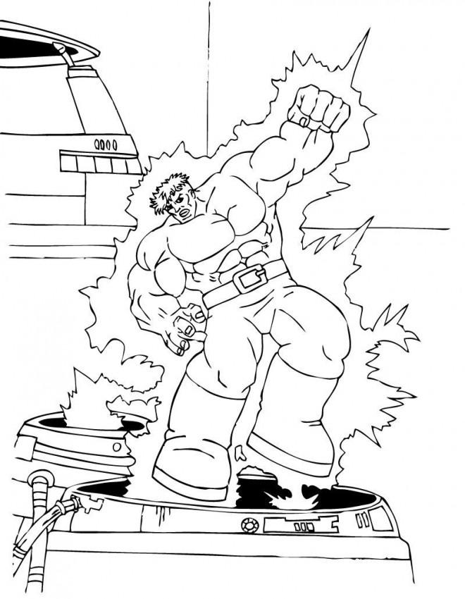 Coloriage et dessins gratuits Avengers Hulk à imprimer