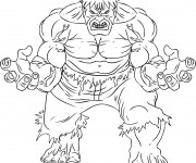Coloriage dessin  Avengers Hulk 12