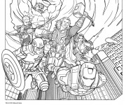 Coloriage dessin  Avengers Hulk 19