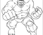 Coloriage dessin  Avengers Hulk 4