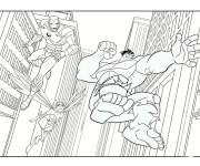 Coloriage dessin  Avengers Hulk 8