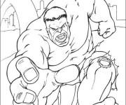 Coloriage dessin  Avengers Hulk 9