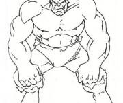Coloriage Avengers Hulk avec Le regard énervé