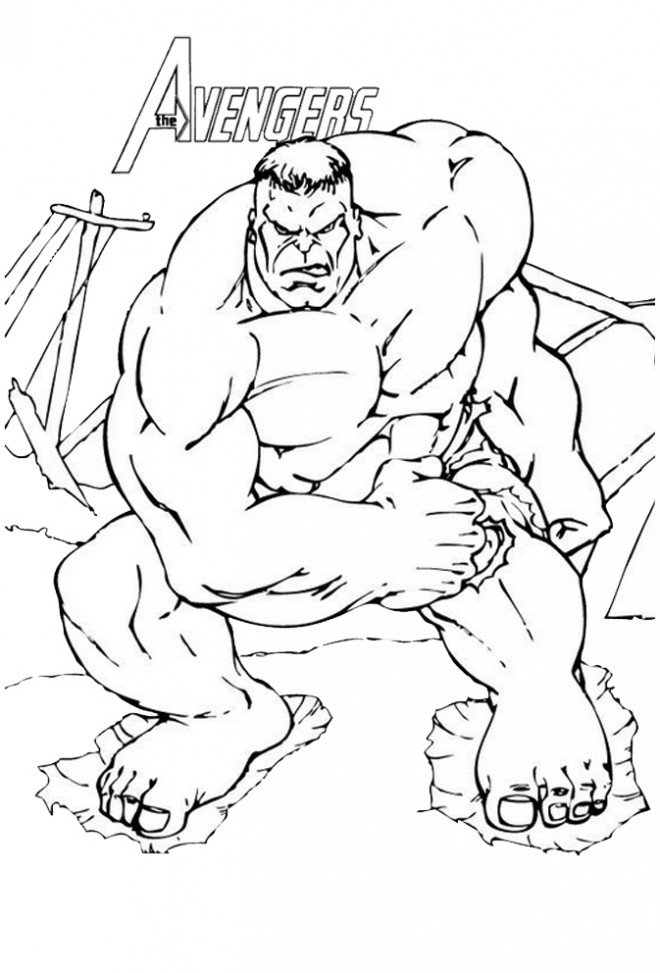 Coloriage et dessins gratuits Avengers Hulk couleur à imprimer
