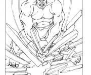 Coloriage et dessins gratuit Avengers Hulk démolisseur à imprimer