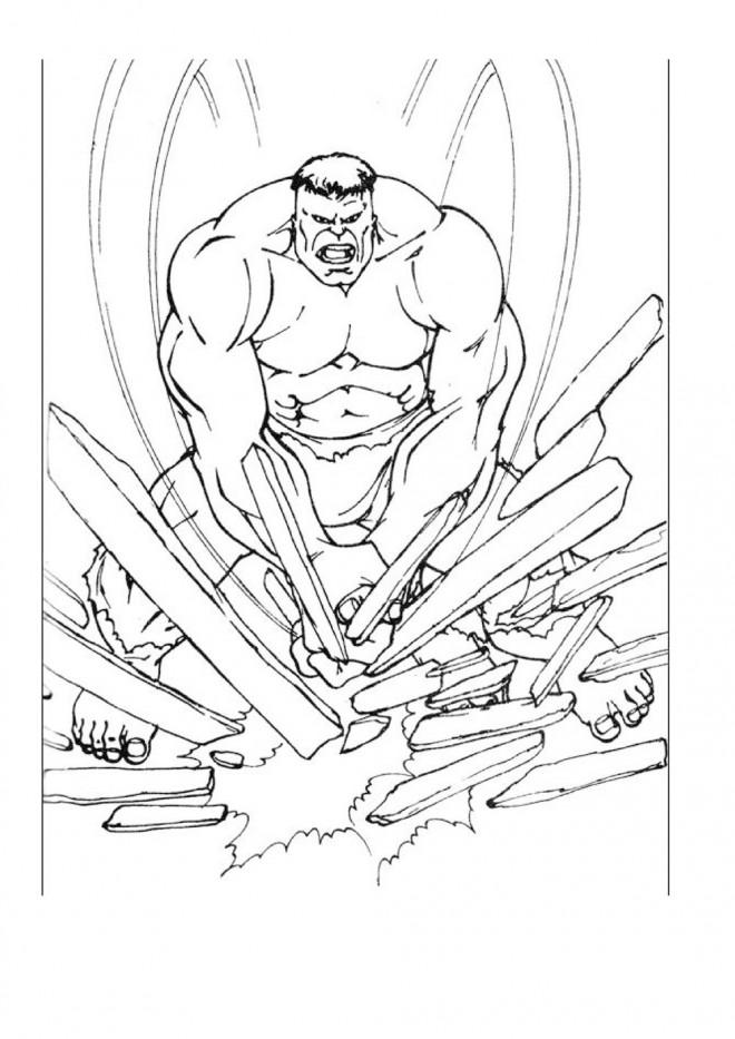 Coloriage et dessins gratuits Avengers Hulk démolisseur à imprimer