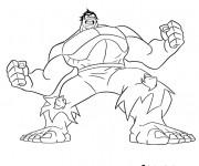 Coloriage et dessins gratuit Avengers Hulk Disney à imprimer