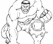 Coloriage et dessins gratuit Avengers Hulk en colère à imprimer