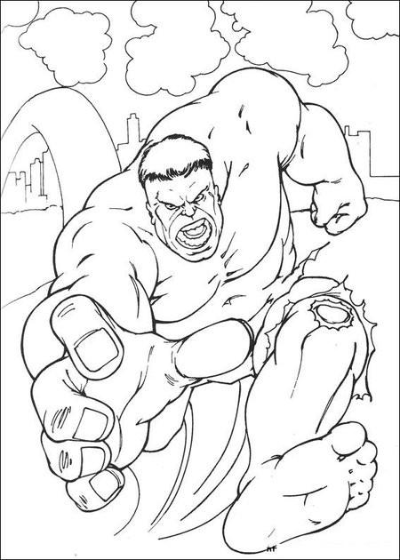 Coloriage et dessins gratuits Avengers Hulk Film à imprimer