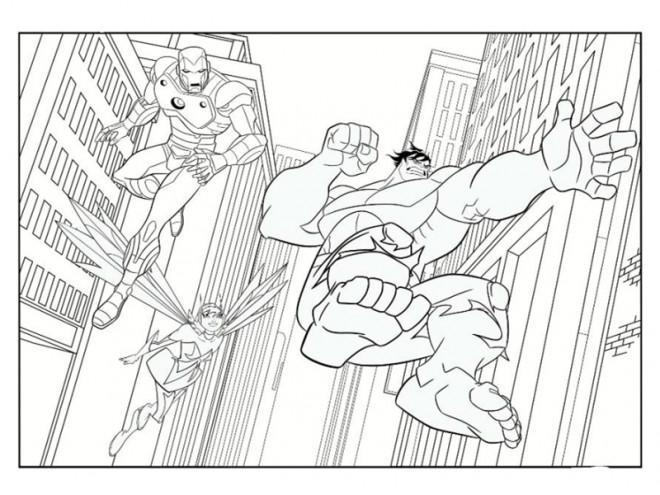 Coloriage et dessins gratuits Avengers Hulk maternelle à imprimer