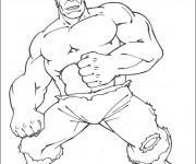 Coloriage Avengers Hulk simple