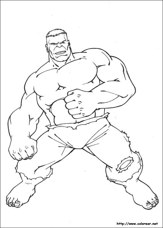 Coloriage et dessins gratuits Avengers Hulk simple à imprimer