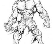 Coloriage et dessins gratuit Hulk stylisé à imprimer