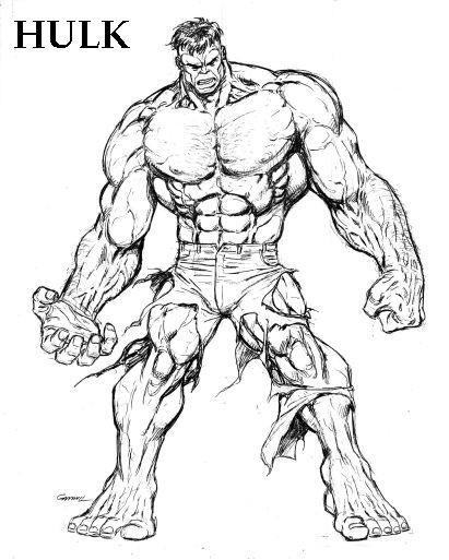 Coloriage Hulk Stylisé Dessin Gratuit à Imprimer