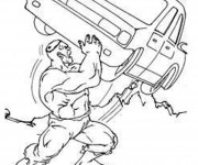 Coloriage et dessins gratuit Hulk super héro de Marvel à imprimer