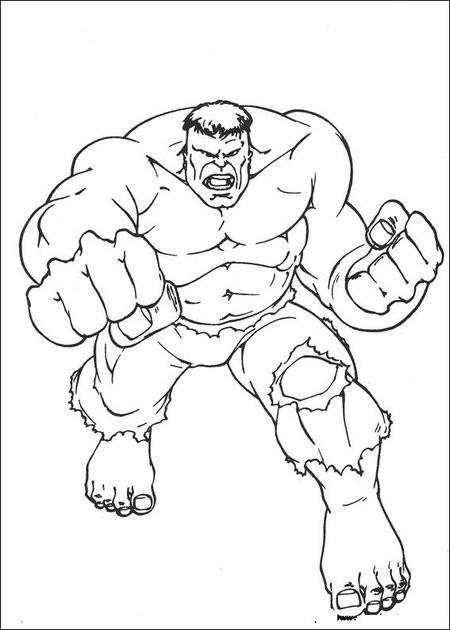 Coloriage et dessins gratuits l'Incroyable Hulk à imprimer