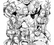 Coloriage Les Héros de Avengers Hulk
